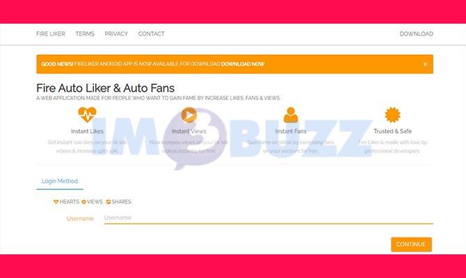 2 Link Auto Like Tiktok Online Gratis Tanpa Aplikasi Im3buzz Com